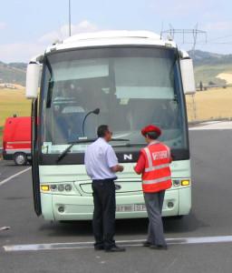 Campaña especial de vigilancia sobre camiones y autobuses en Navarra
